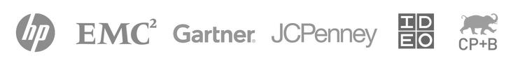 HP EMC2 Gartner JCPenney IDEO CP+B